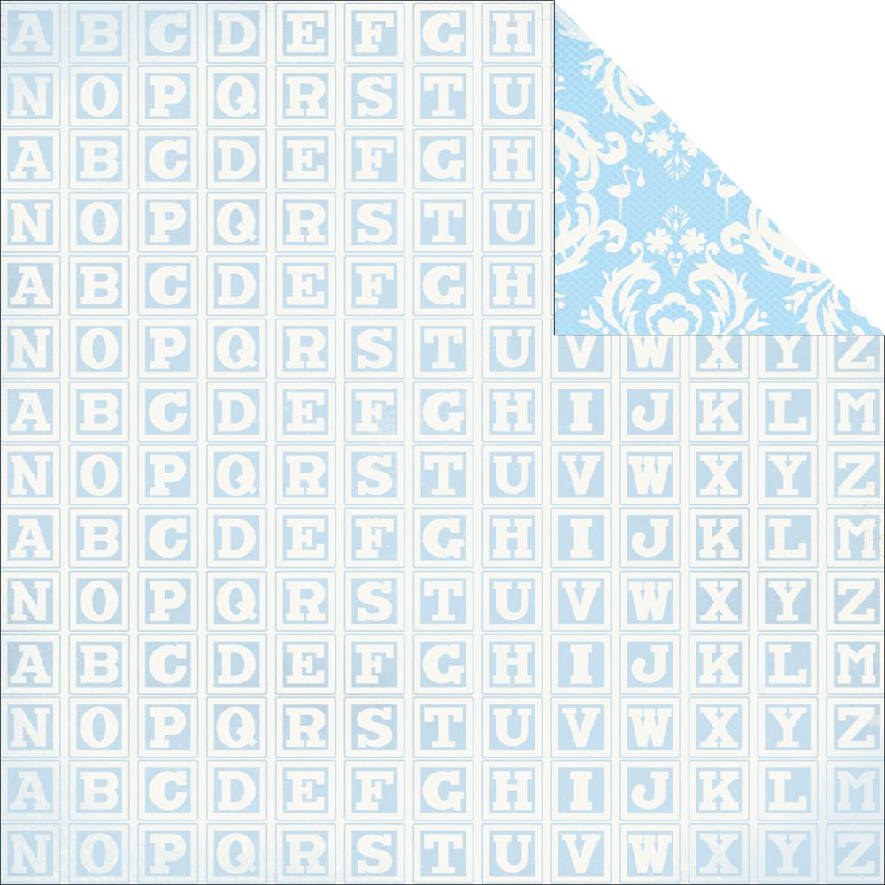 Двусторонняя бумага First Words 30х30 от Kaisercraft