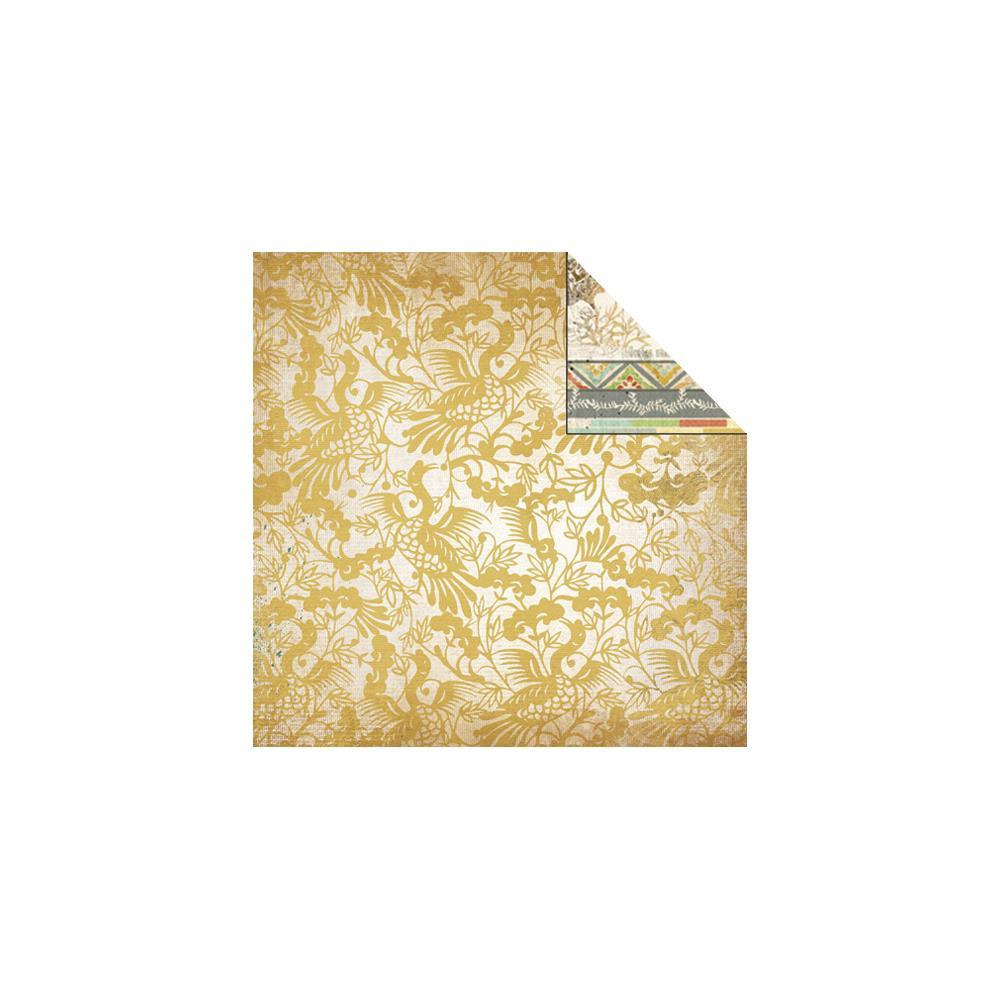Двусторонняя бумага Allure с лаковыми элементами 30х30 от Kaisercraft
