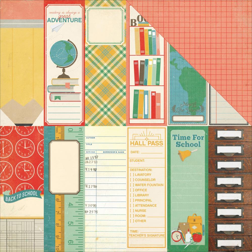 Двусторонняя бумага Book Marks 30х30 см от Echo Park