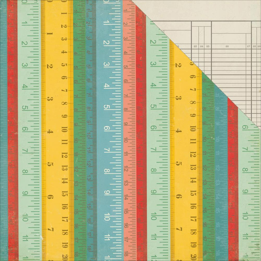 Двусторонняя бумага Rulers 30х30 см от Echo Park