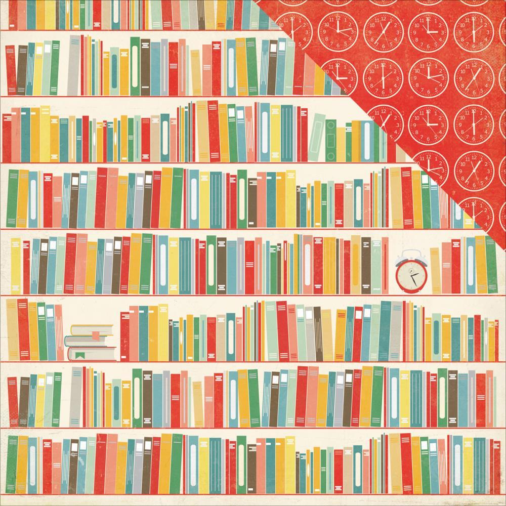 Двусторонняя бумага Books 30х30 см от Echo Park