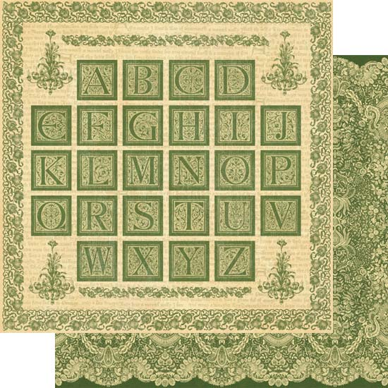 Двусторонняя скрапбумага Venetian Lace от Graphic 45