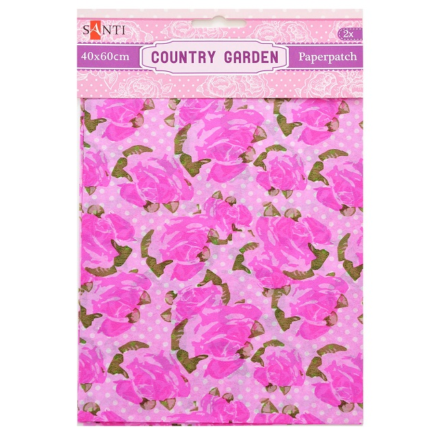 Бумага для декупажа, Country garden 6, 2 листа 40*60 см от Santi