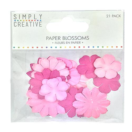 Набор бумажных цветов Pink, 21 шт от Simply Creative