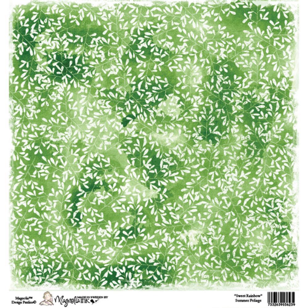 Бумага для скрапбукинга Summer Foliage 30*30 см от Magnolia