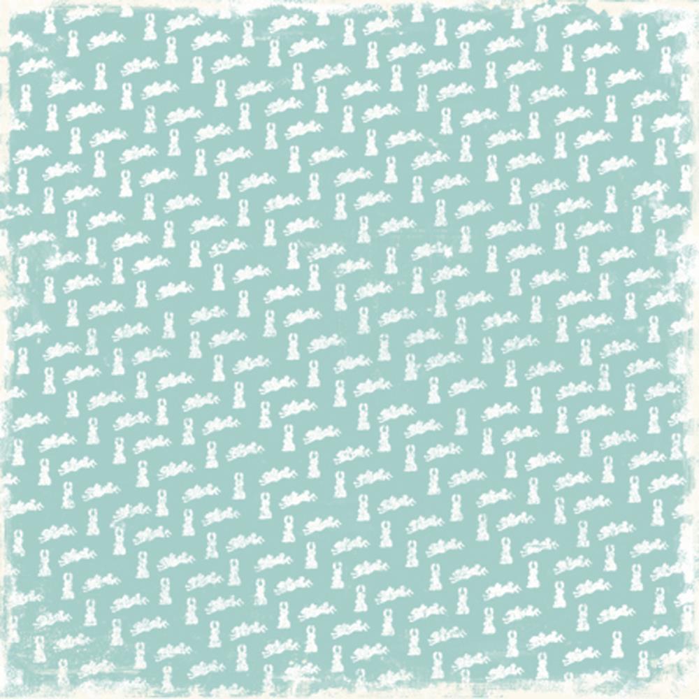 Бумага для скрапбукинга Turquoise Bunny 30*30 см от Magnolia