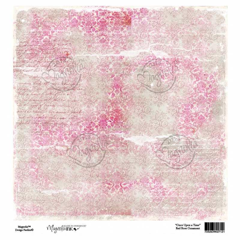 Бумага для скрапбукинга Red Rose Ornament 30*30 см от Magnolia