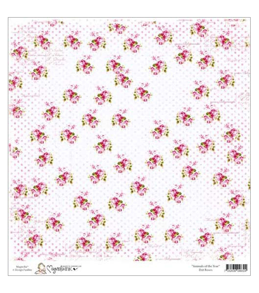 Бумага для скрапбукинга Dot Roses 30*30 см от Magnolia