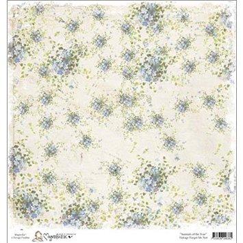 Бумага для скрапбукинга Vintage Forget Me Not 30*30 см от Magnolia