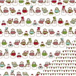 Двусторонняя бумага Snowman Family 30*30 см от American Crafts