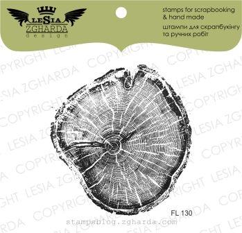 """Акриловый штамп """"Срез дерева """", 5,9*6,2 см от Lesia Zgharda"""