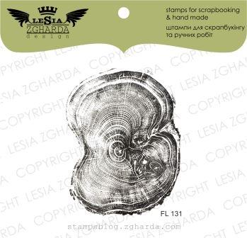 """Акриловый штамп """"Срез дерева маленький"""", 4,6*5,9 см от Lesia Zgharda"""