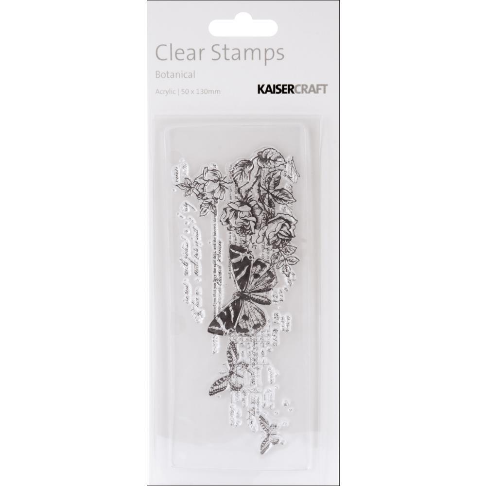 Акриловый штамп Botanical, 13х5 см от Kaisercraft