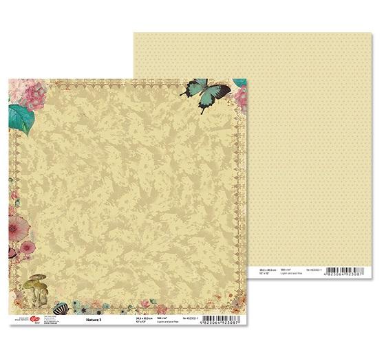 """Двусторонняя бумага """"Nature"""" 1, 1 лист , 30*30 см от Rosa"""