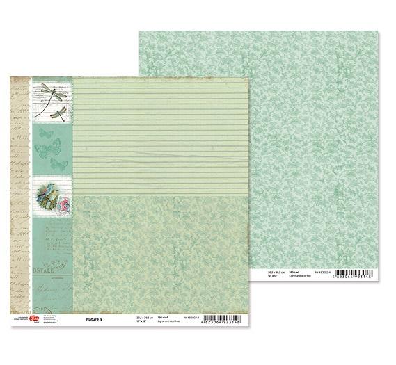 """Двусторонняя бумага """"Nature"""" 4, 1 лист , 30*30 см от Rosa"""
