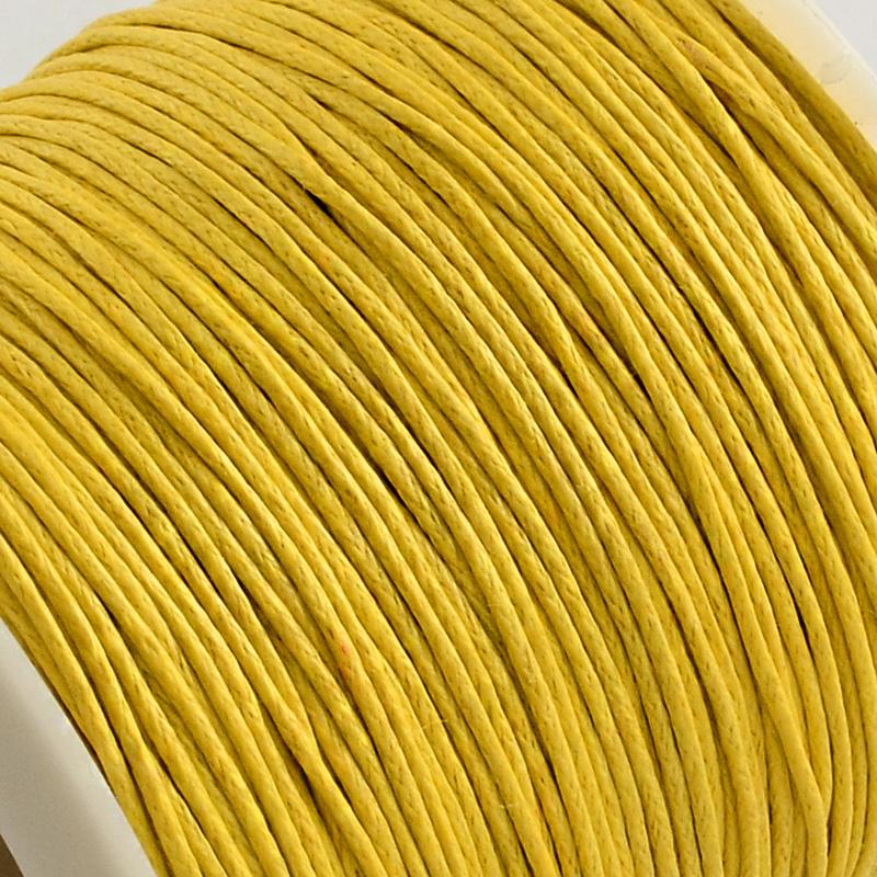 Вощенный шнур золотой , 84 м , толщина 1 мм