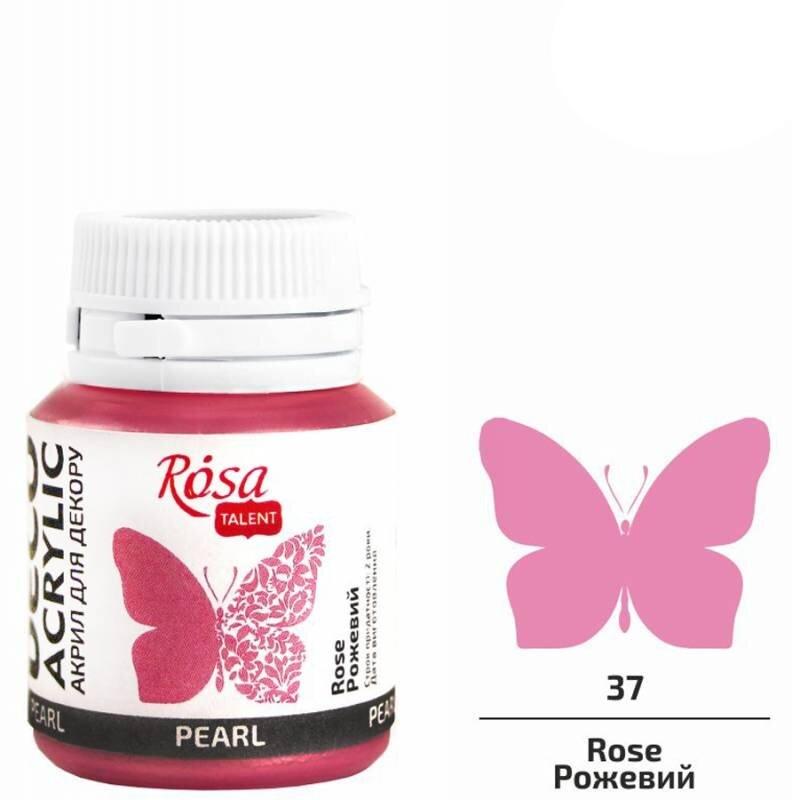 Акрил для декора, 77 розовый, перламутр, 20 мл, ROSA TALENT