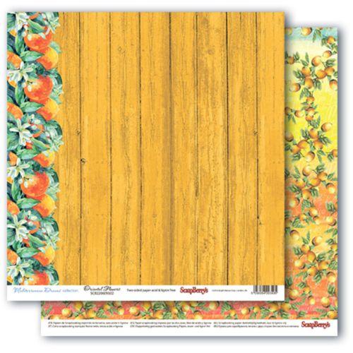 Двусторонняя бумага Цитрусовый Сад, 30,5х30,5 см от ScrapBerry's