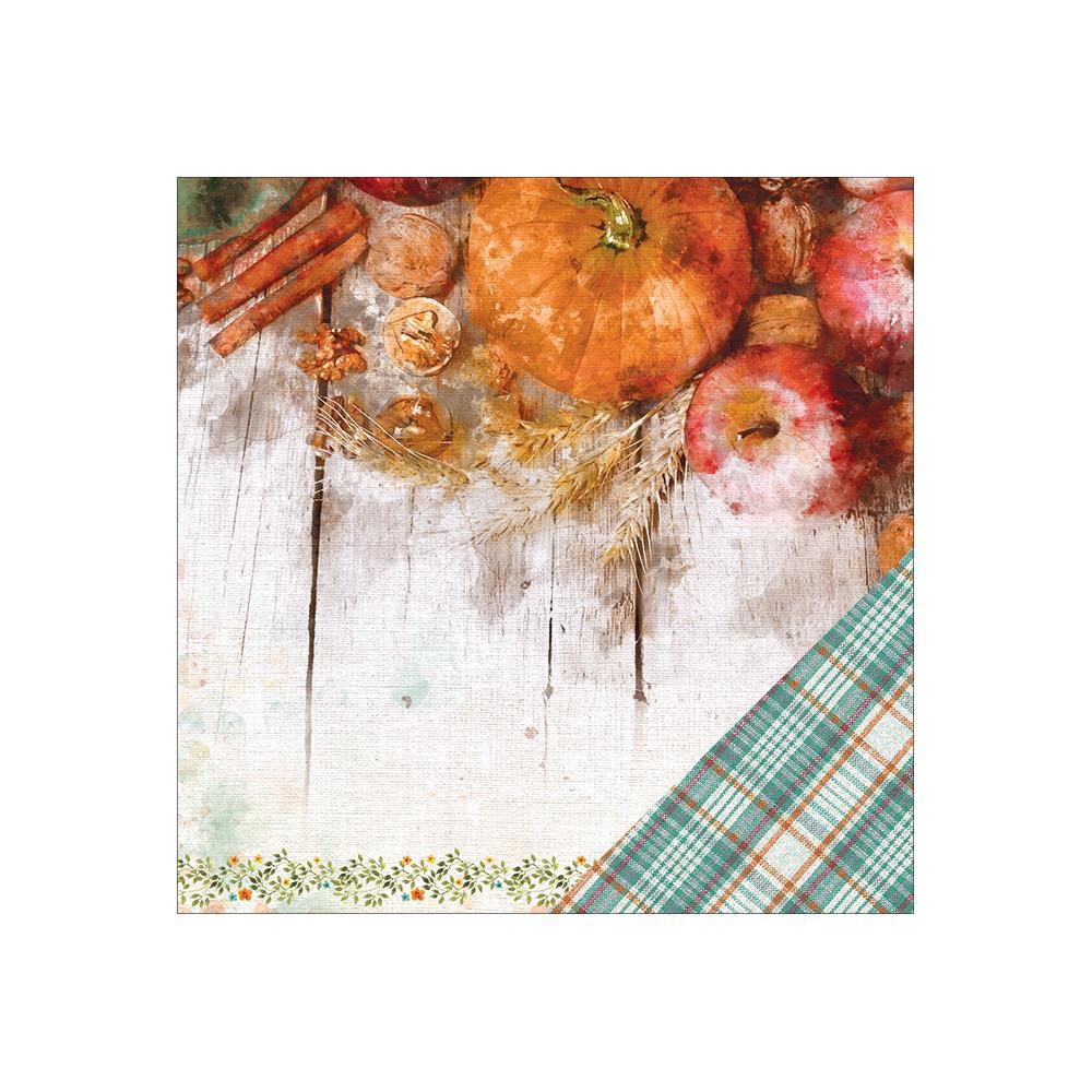 Двусторонняя бумага Pumpkin Spice, 30*30 см, 1 лист от Paper House