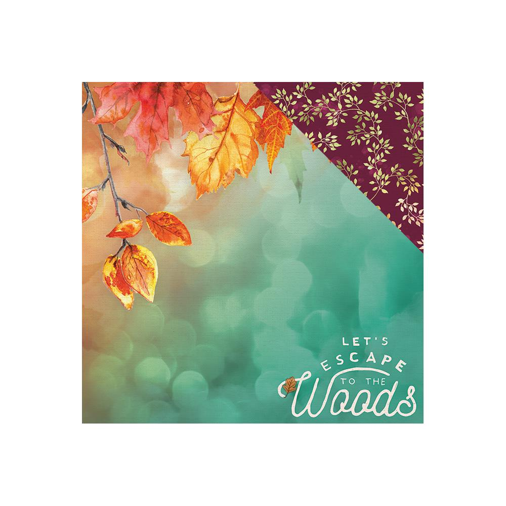 Двусторонняя бумага Autumn Woods, 30*30 см, 1 лист от Paper House