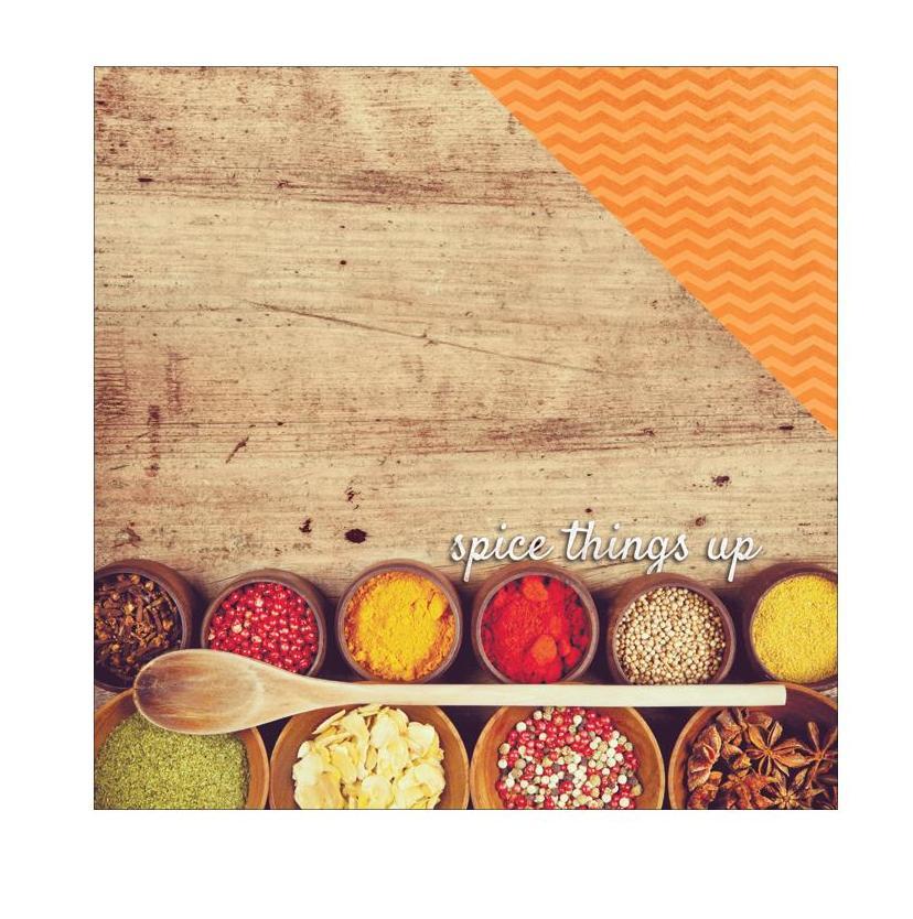 Двусторонняя бумага Spice Things Up, 30*30 см, 1 лист от Paper House