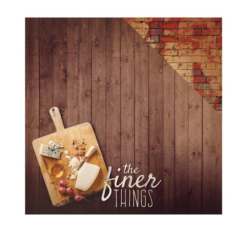 Двусторонняя бумага Finer Things, 30*30 см, 1 лист от Paper House