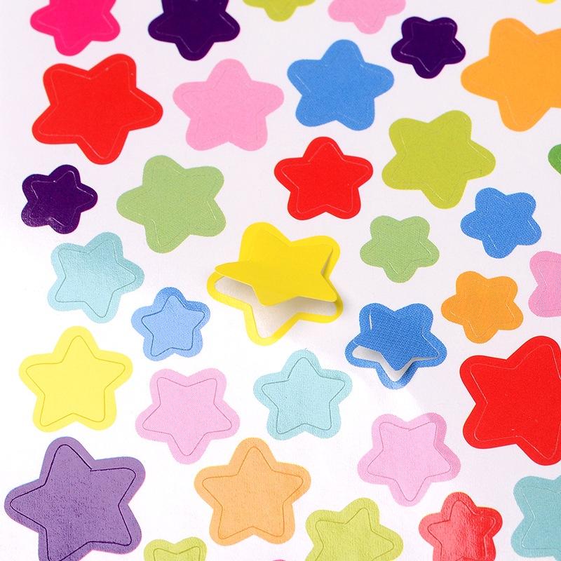 """Набор наклеек """"Звездочки"""", разноцветные, размер листа 15*10 см"""