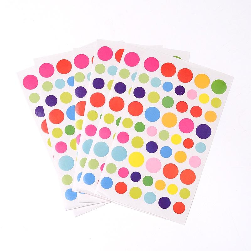 """Набор наклеек """"Кружочки"""", разноцветные, размер листа 15*10 см"""