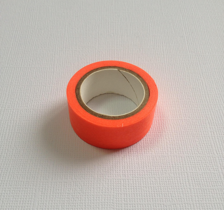 Бумажный скотч ярко-оранжевого цвета, длина 10 м, ширина 15 мм