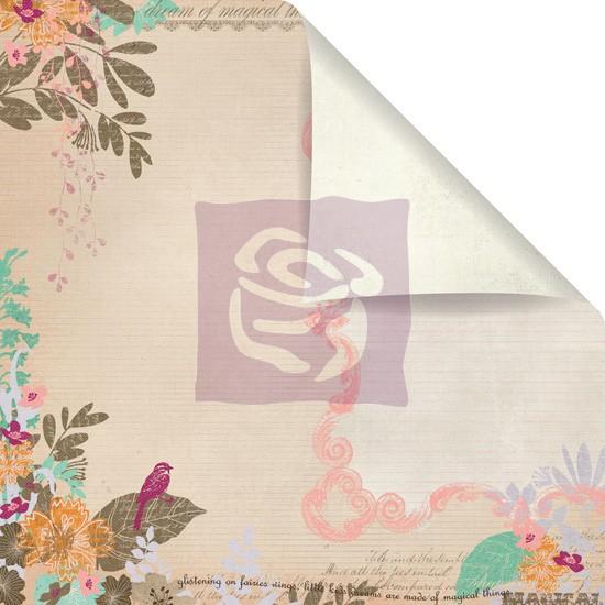 Двусторонняя бумага для скрапбукинга Songbird - Melody Collection от Prima