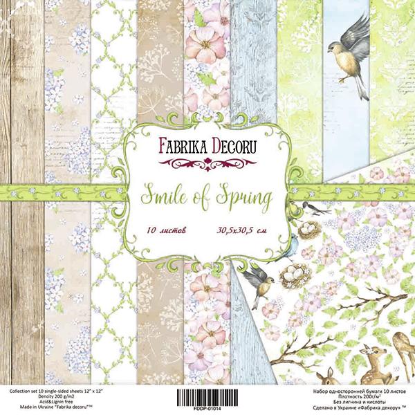 "Набор скрапбумаги ""Smile of Spring"", 10 л,  20 Х 20 см от Фабрика Декора"
