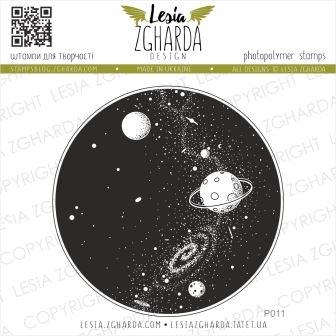 """Акриловый штамп """"Вселенная"""", 6,9*6,9 см от Lesia Zgharda"""