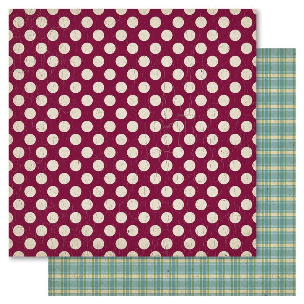 Двусторонняя бумага Spots, 30*30 см, 1 шт от Ruby Rock-It