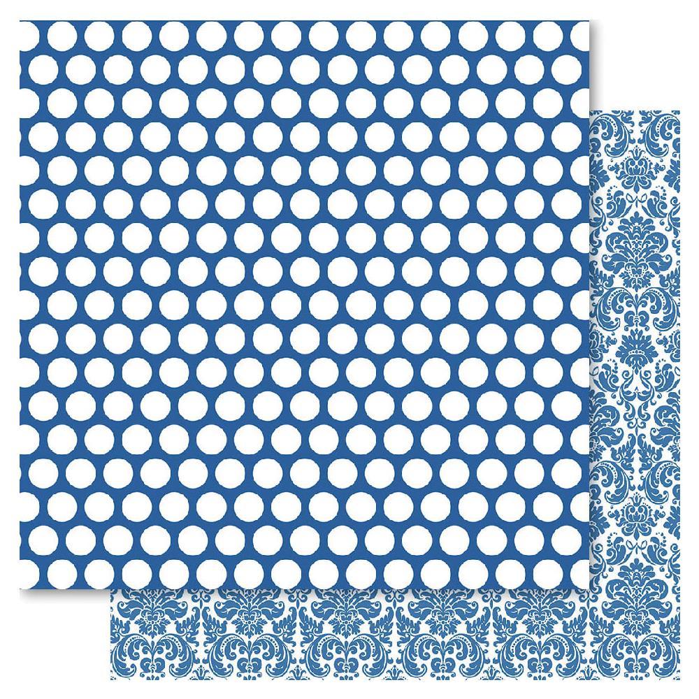Двусторонняя бумага Blue Spotted, 30*30 см от Ruby Rock-It