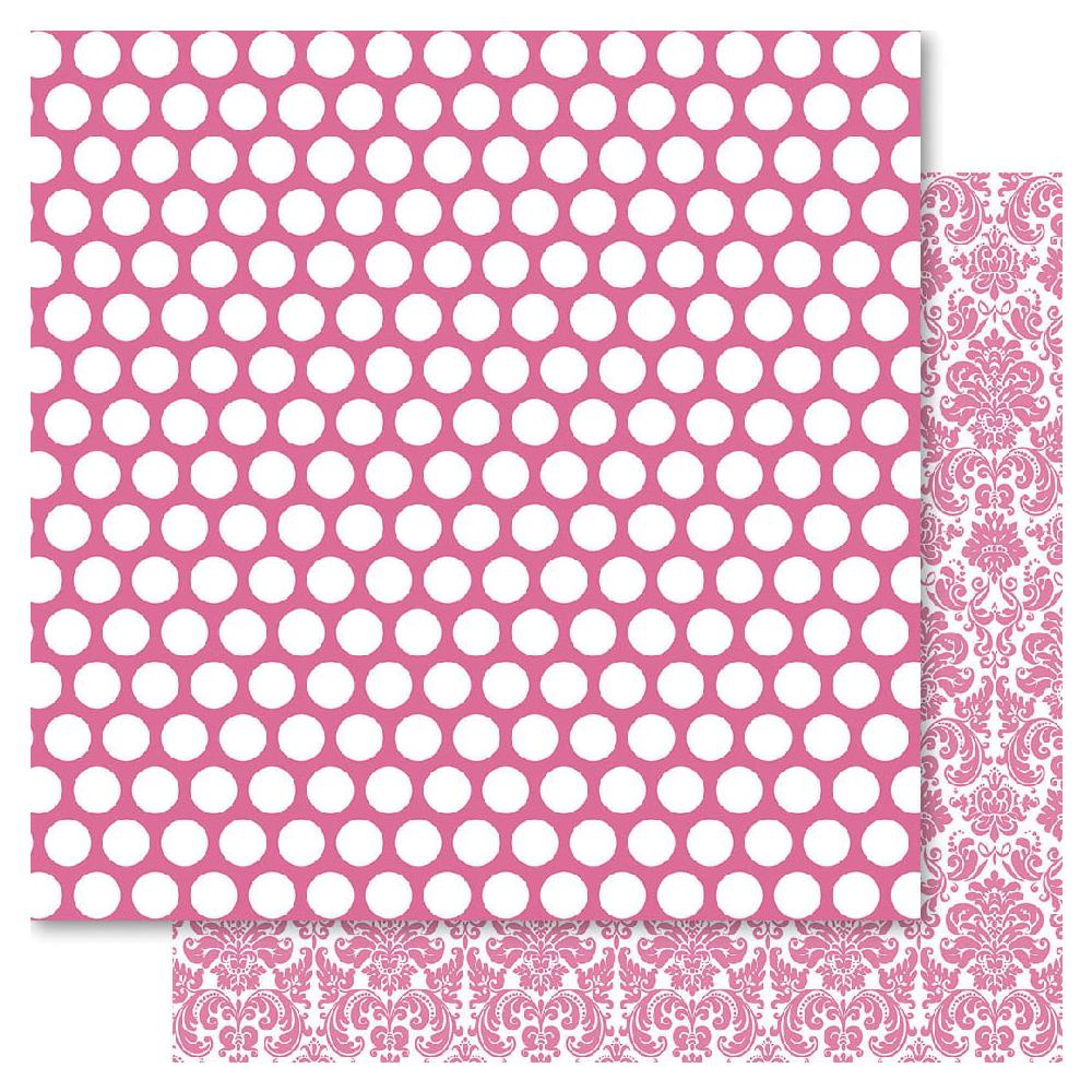 Двусторонняя бумага Pink Spotted, 30*30 см от Ruby Rock-It