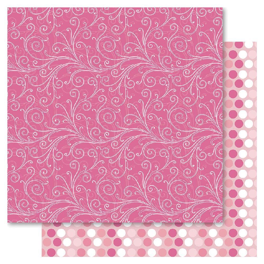 Двусторонняя бумага Pink Flourish, 30*30 см от Ruby Rock-It