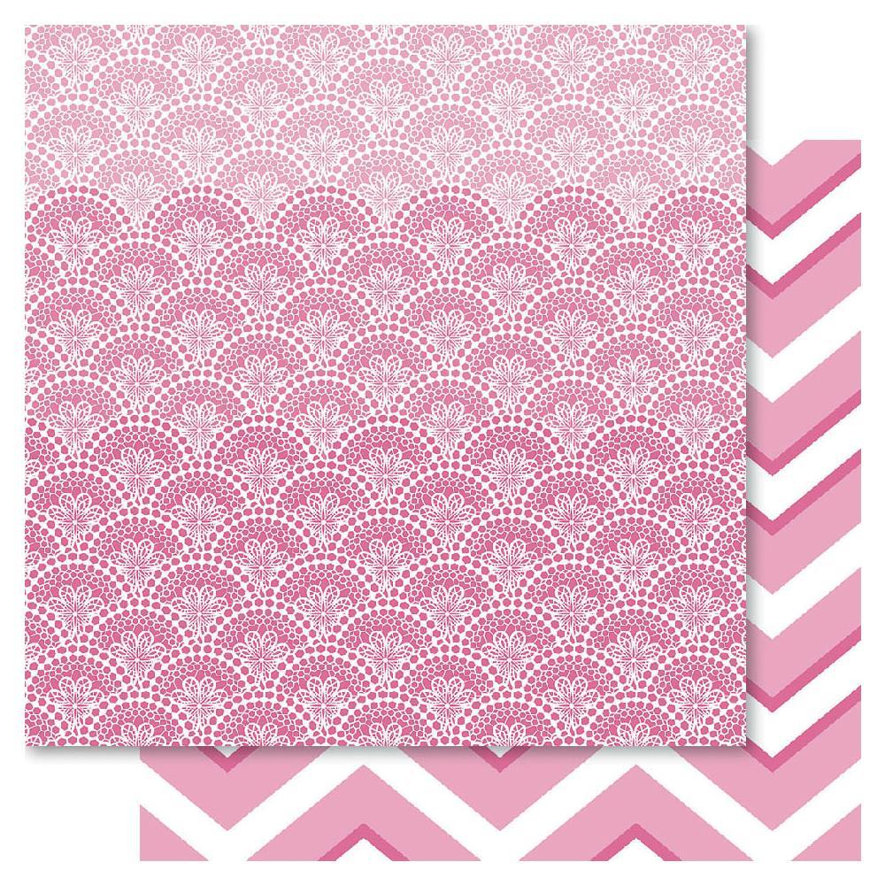 Двусторонняя бумага Pink Doily, 30*30 см от Ruby Rock-It