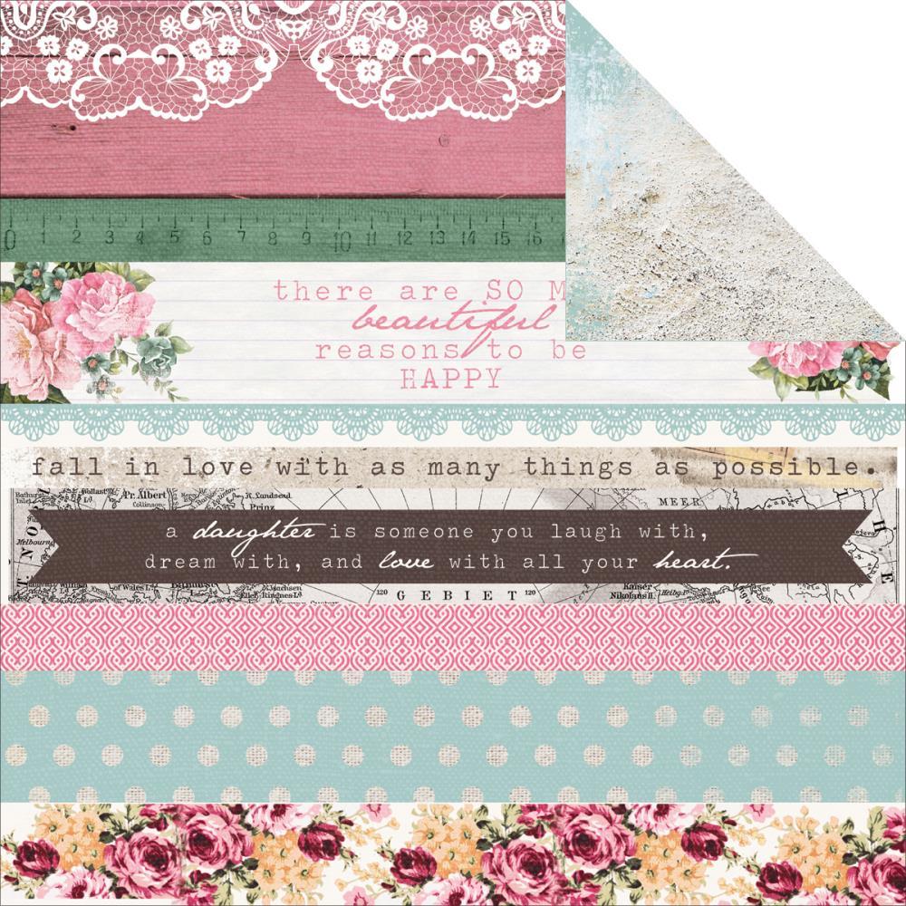 Лист двусторонней бумаги Miss, 30*30 см от Kaisercraft
