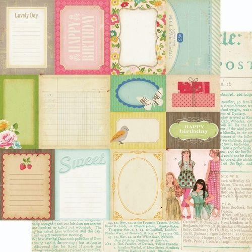 Двусторонняя скрапбумага Pretty Party - Accent Cuts от Crate Paper