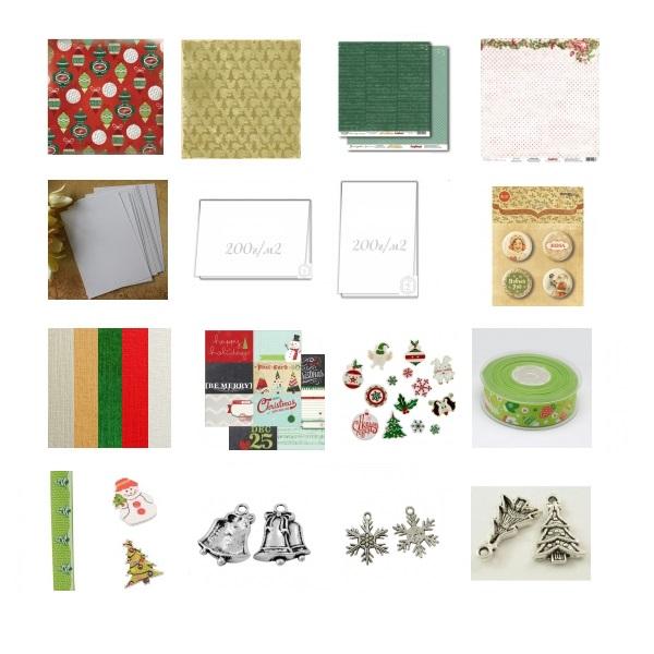 Набор для создания открыток Новогодний зеленый веселый -50%
