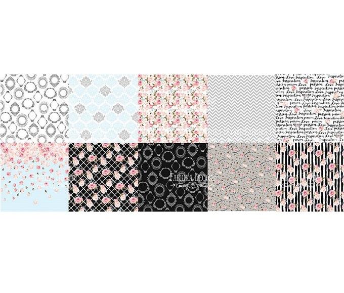 """Набор скрапбумаги """"Sensual Love"""", 10 л, 30,5x30,5 см от Фабрика Декора"""