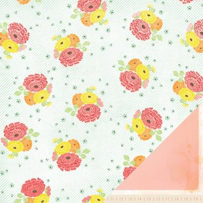 Двусторонняя скрапбумага Dear Lizzy - Delightful Bouquet от American Crafts