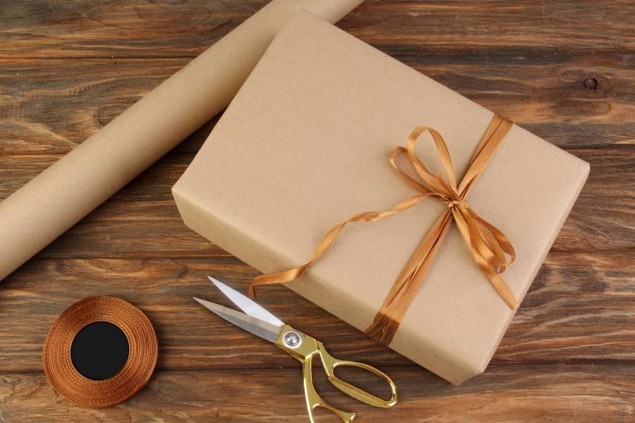 Бумага упаковочная рулонная, Крафт, 10м х 70см, 80 г/м²
