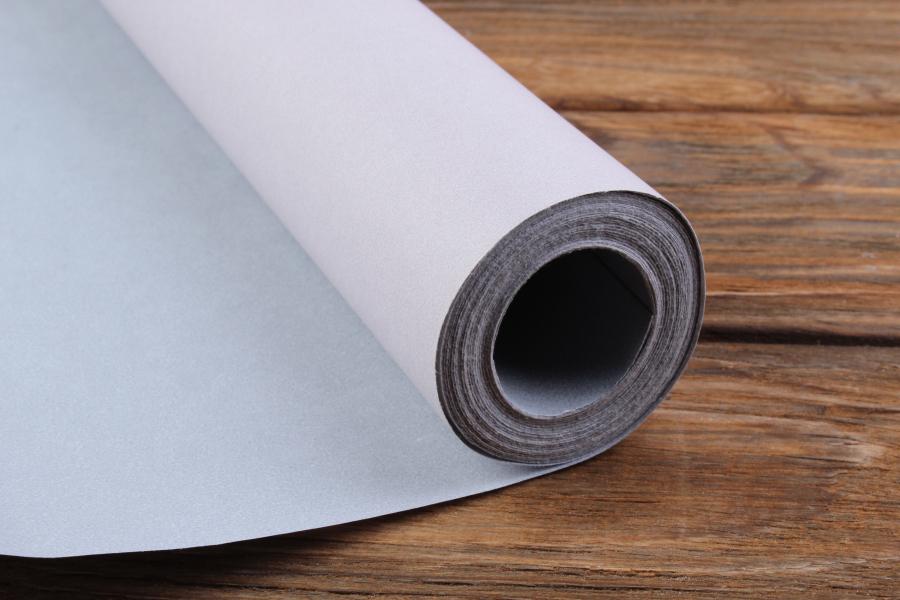 Бумага упаковочная рулонная, серая-пудра, 8м х 70см, 80 г/м²