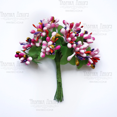 Набор декоративных веточек, розовый микс, 12 шт от Фабрика Декора
