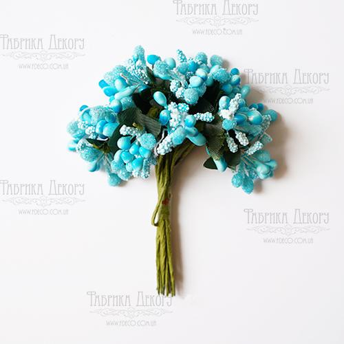 Набор декоративных веточек, голубые, 12 шт от Фабрика Декора