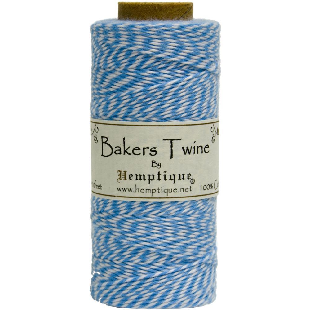 Двухслойный хлопковый шнур Baker's Twine, 1м, синий, Hemptique