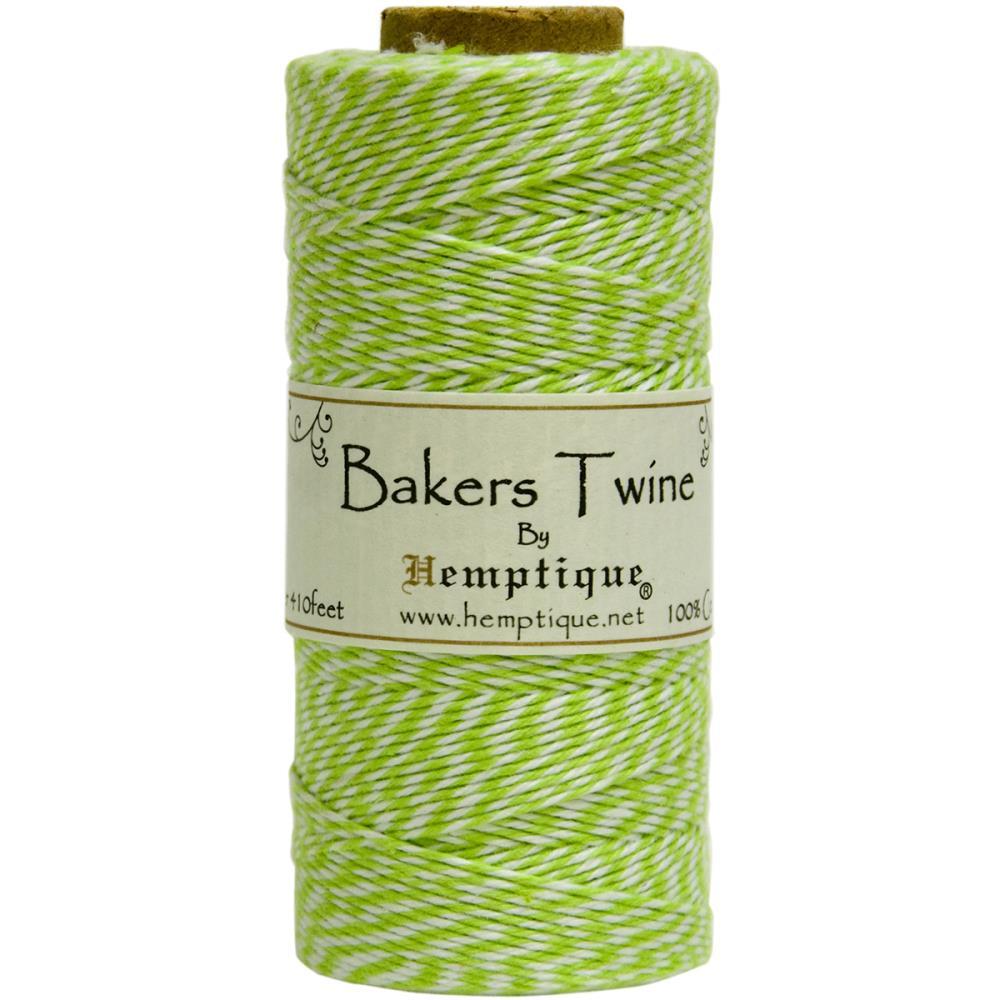 Двухслойный хлопковый шнур Baker's Twine, 1 м, лайм, Hemptique