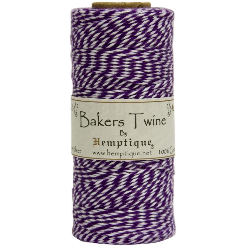 Двухслойный хлопковый шнур Baker's Twine, 1 м, фиолетовый, Hemptique