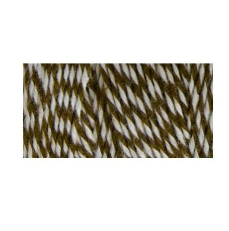 Двухслойный хлопковый шнур Baker's Twine, 1 м, коричневый, Hemptique